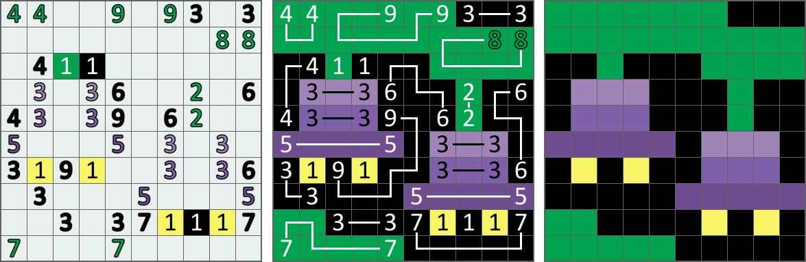 Филиппинские кроссворды. Доработка мобильной 2D головоломки для работы с цветными кроссвордами - 1