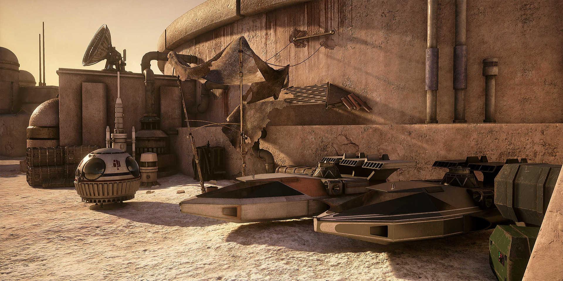 Создание сцены из Star Wars в Unreal Engine 4 - 27