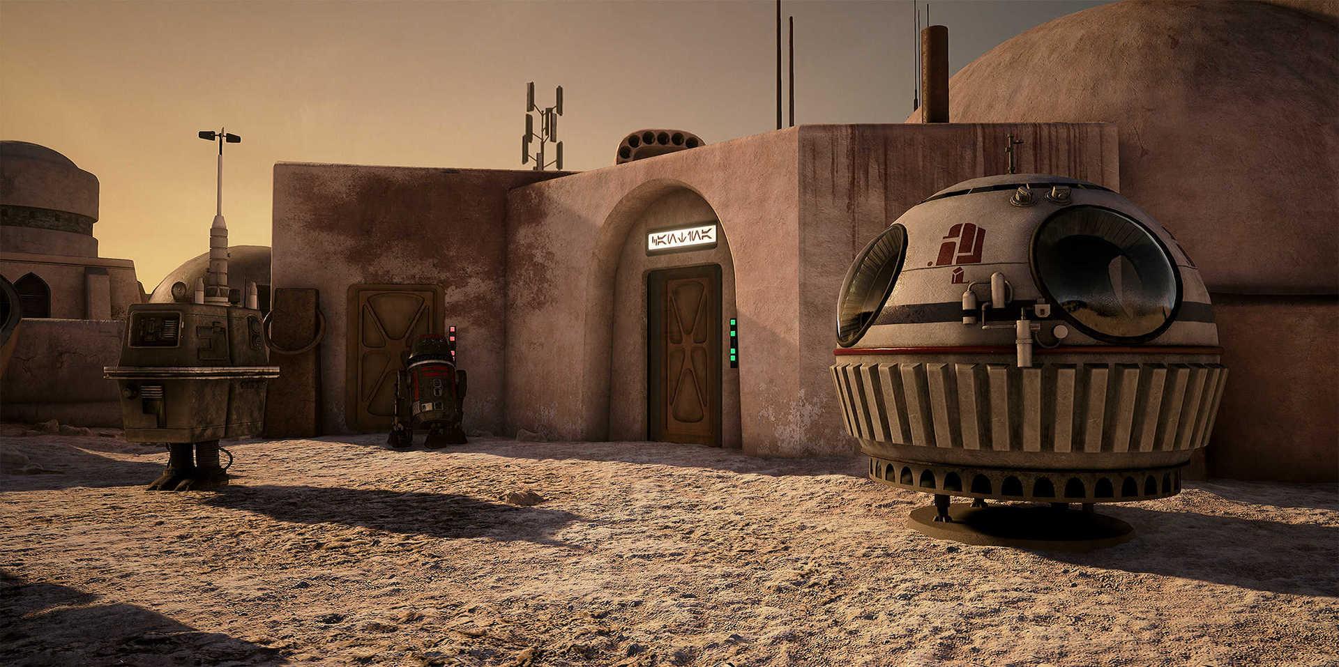 Создание сцены из Star Wars в Unreal Engine 4 - 5