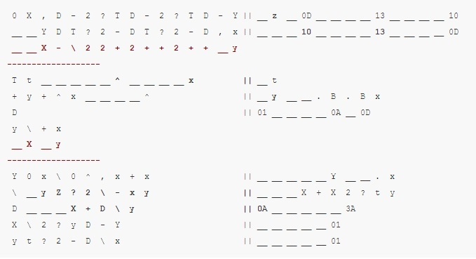 Примеры кода на 39 эзотерических языках программирования - 11
