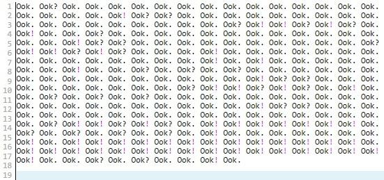Примеры кода на 39 эзотерических языках программирования - 38