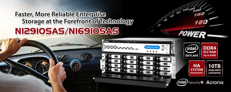 Основой хранилищ N12910SAS и N16910SAS служат процессоры Intel Xeon E3-1245 v5