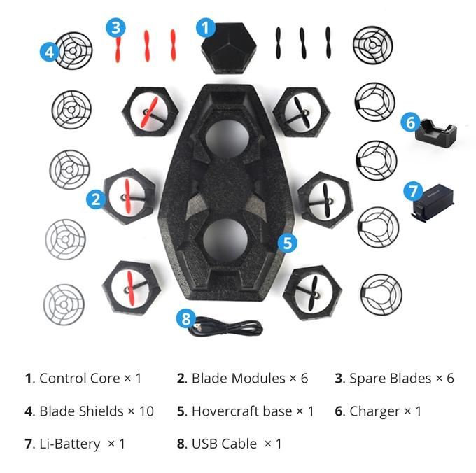 Airblock — программируемый модульный дрон и судно на воздушной подушке за $99