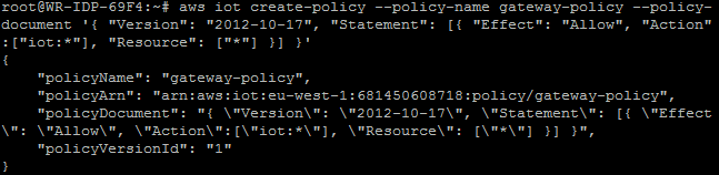Подключение шлюзов Intel для интернета вещей к AWS и обмен данными с облаком при помощи Node-RED или Python - 15
