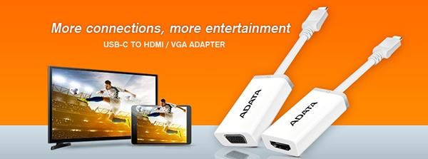 Adata USB-C TO HDMI / VGA ADAPTER