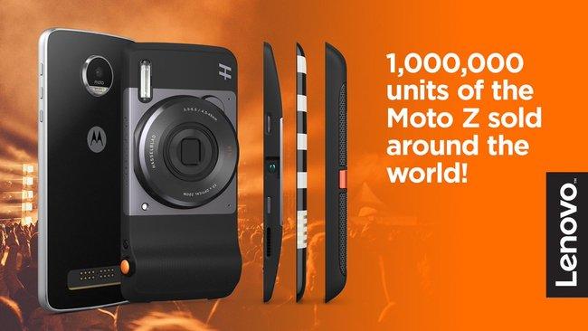 Продажи смартфонов Moto Z превысили 1 млн единиц