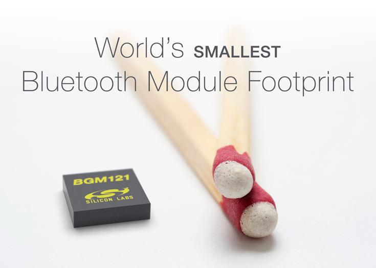 Модуль Silicon Labs BGM12x занимает на плате участок размерами 6,5 x 6,5 мм