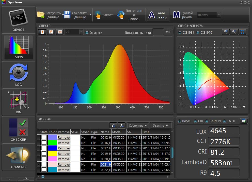 Самый маленький в мире спектрометр UPRtek MK350D - 24