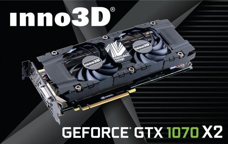 Inno3D представила две карты GeForce GTX 1070