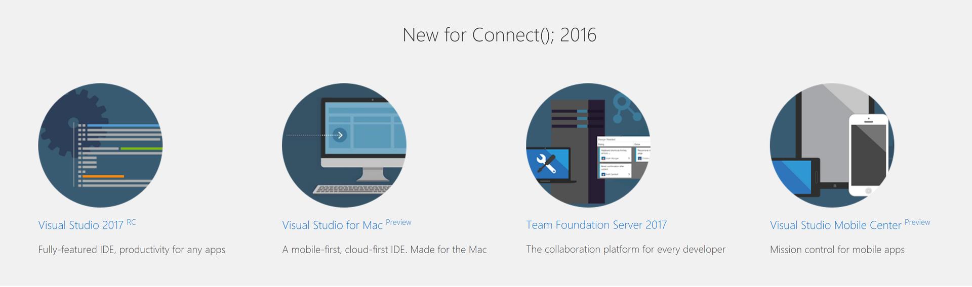 Visual Studio для Mac и другие новости конференции Connect(); --2016 - 1