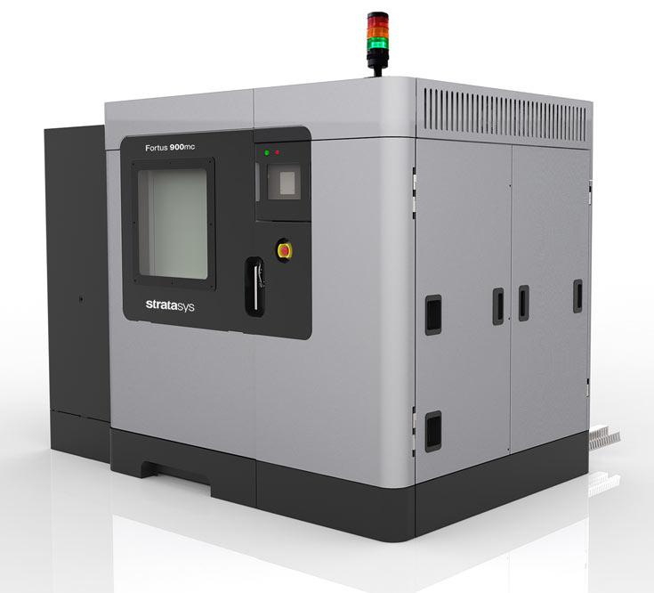 В 3D-принтере Stratasys Fortus 900mc используется технология послойного наплавления