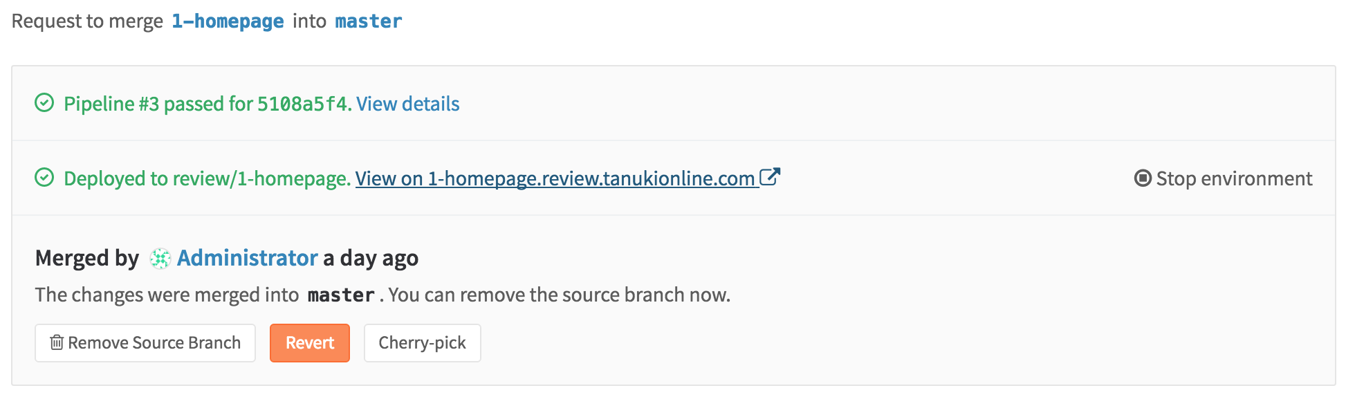 Stop dynamic environments (review apps) in GitLab 8.13