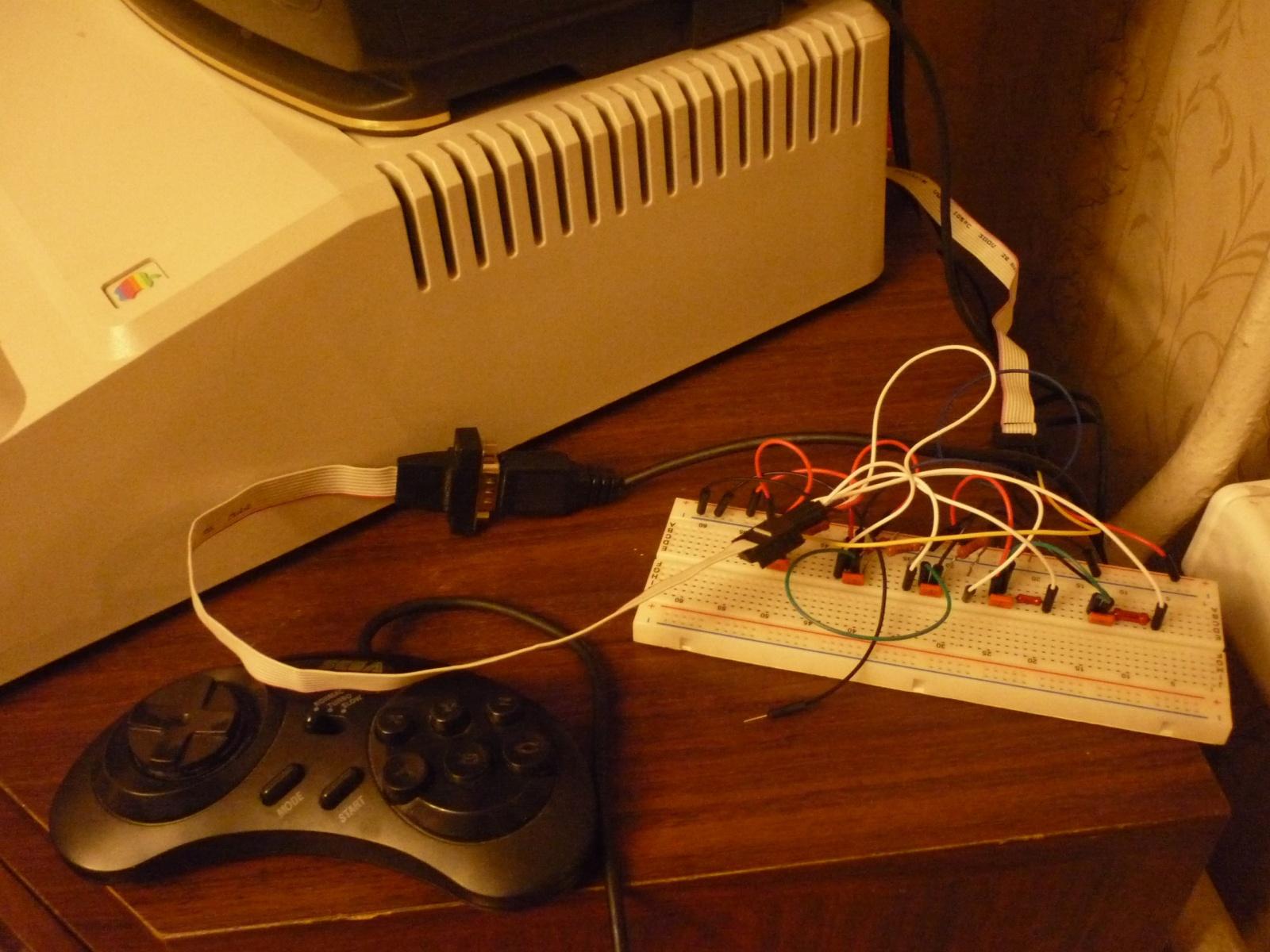 Адаптер для геймпада Sega → AppleII своими руками - 2