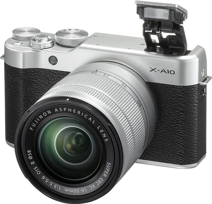 Камера Fujifilm X-A10 оснащена креплением для объективов Fujifilm X