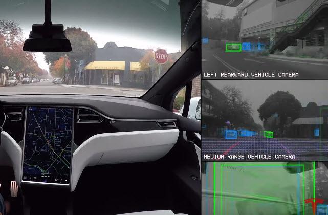 Tesla показала, каким видят мир электромобили компании