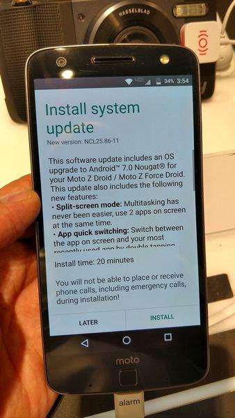 Смартфоны Moto Z Droid и Moto Z Force Droid обновляются до Android Nougat