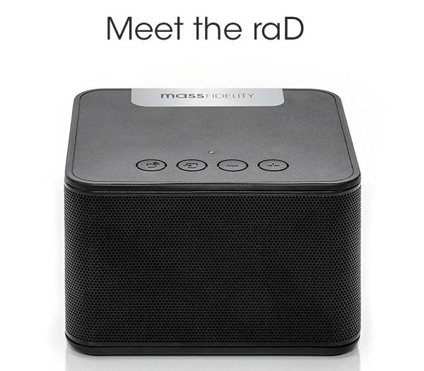 Портативная акустическая система raD стоит $190