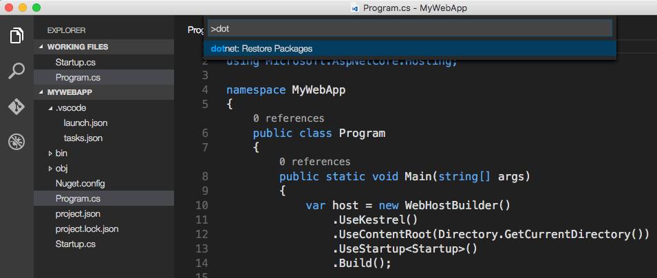 ASP.NET Core: Ваше первое приложение на Mac c использованием Visual Studio Code - 4
