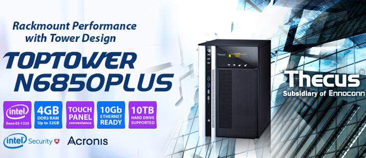 Максимальный объем хранилища Thecus N6850Plus — 60 ТБ