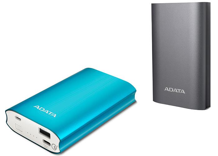 Мобильный аккумулятор Adata A10050QC оснащен двумя портами, суммарно рассчитанными на силу тока до 4,6 А