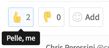 Emoji bar in GitLab