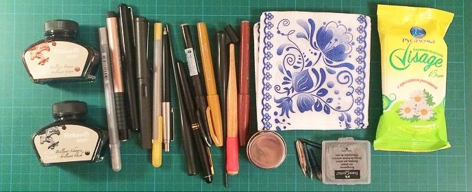 Маркеры, ручки и чернила