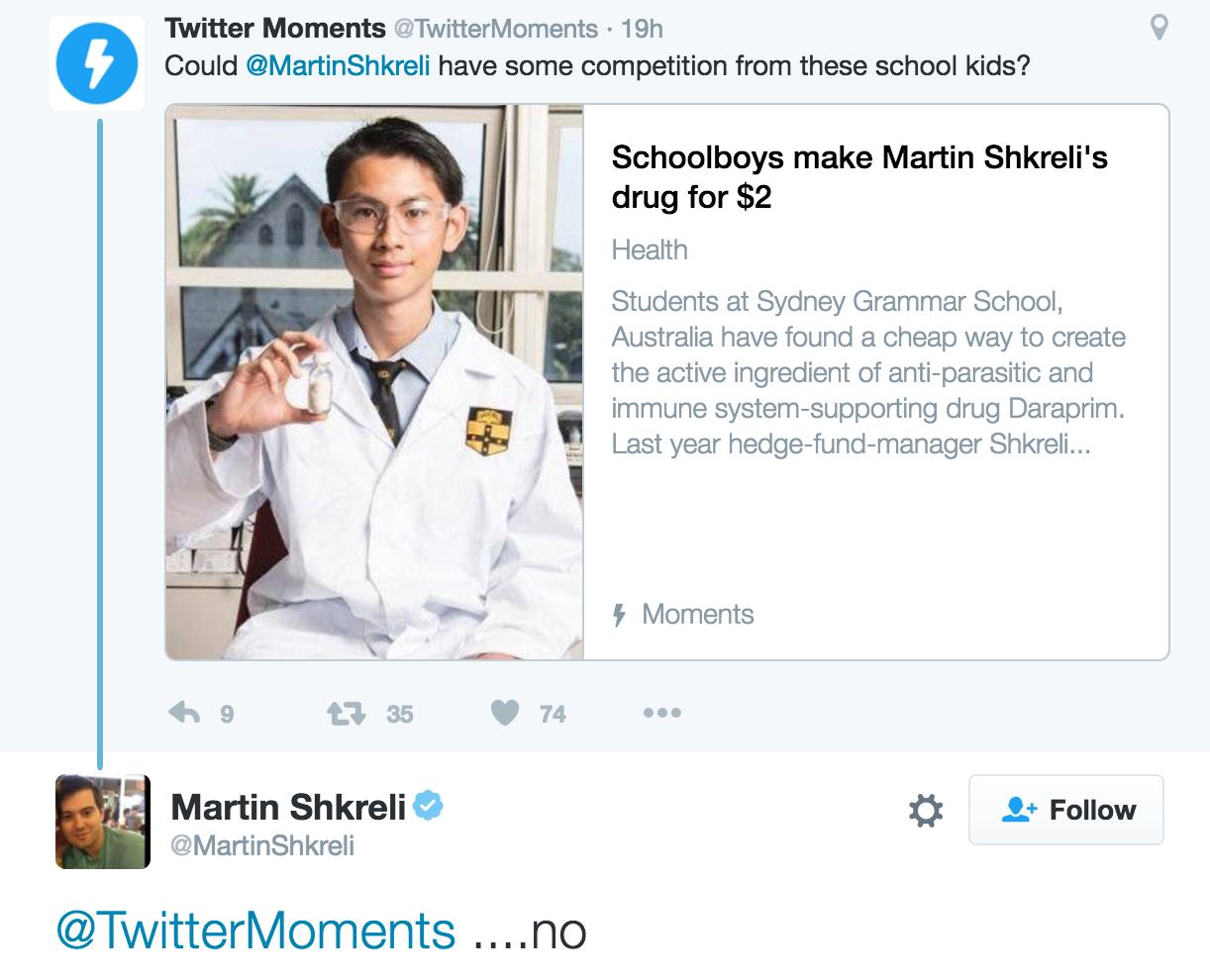 Почему Daraprim австралийских школьников никак не затрагивает Мартина Шкрели - 2