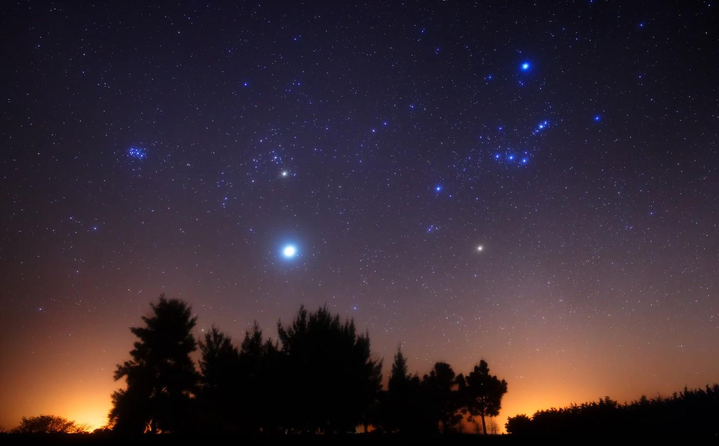 Яркая звезда в небе фото