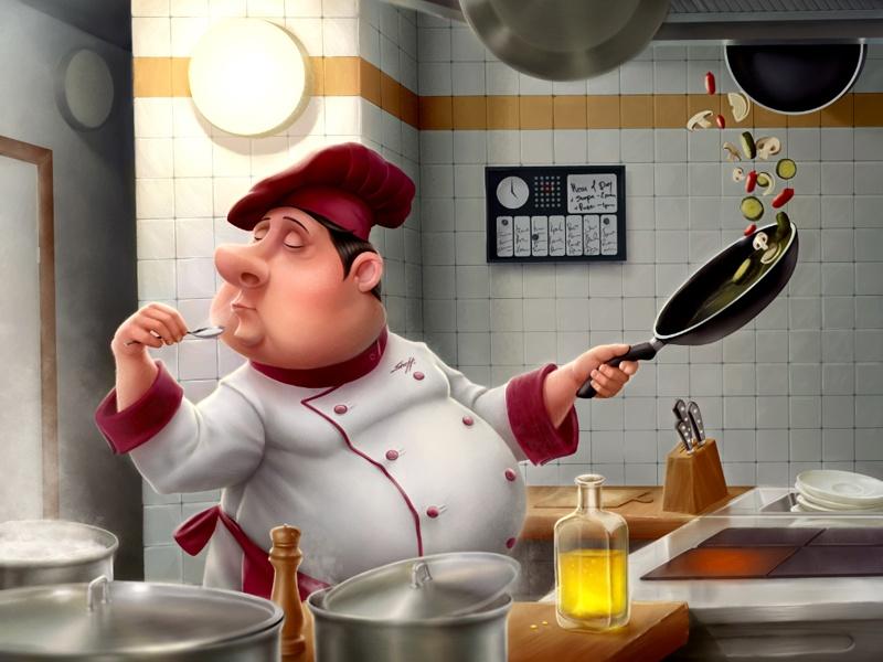 Прикольная картинка на кухню