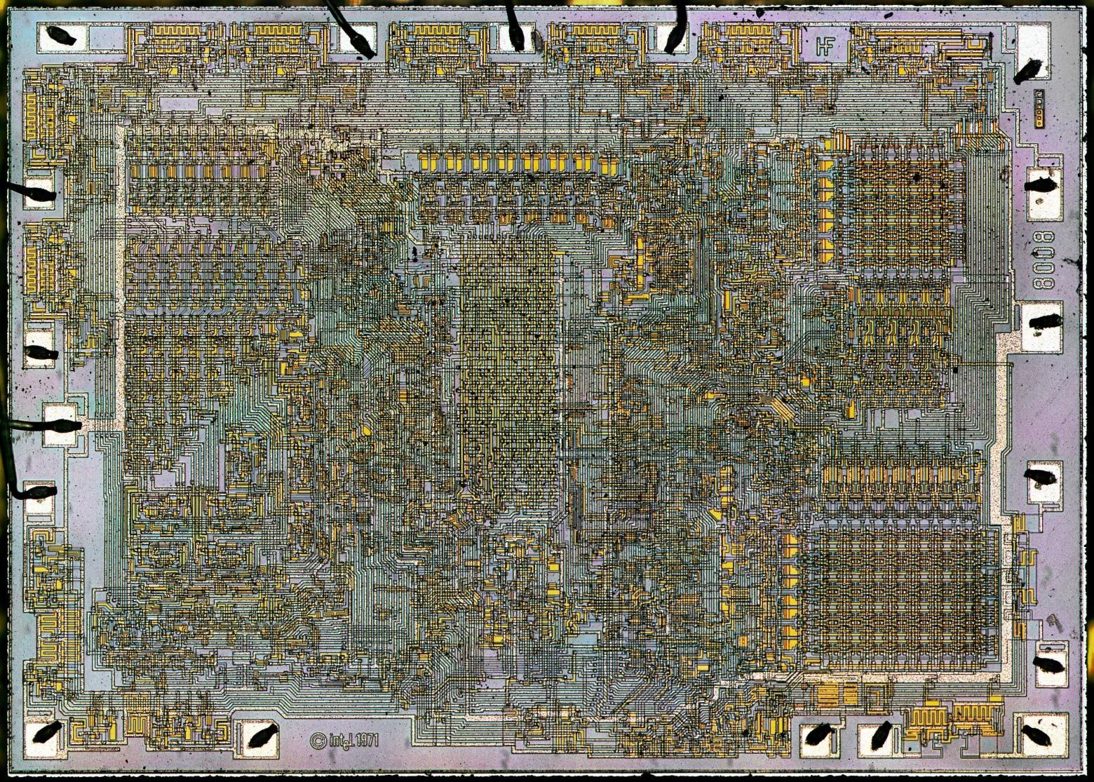 Фотографии кристалла процессора Intel 8008, который дал жизнь первым ПК - 1