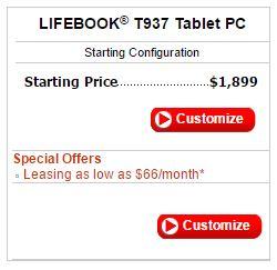 Fujitsu Lifebook T937, цена