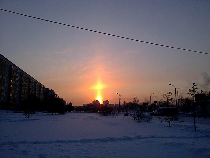 Зимнее небо для новогодних каникул - 17