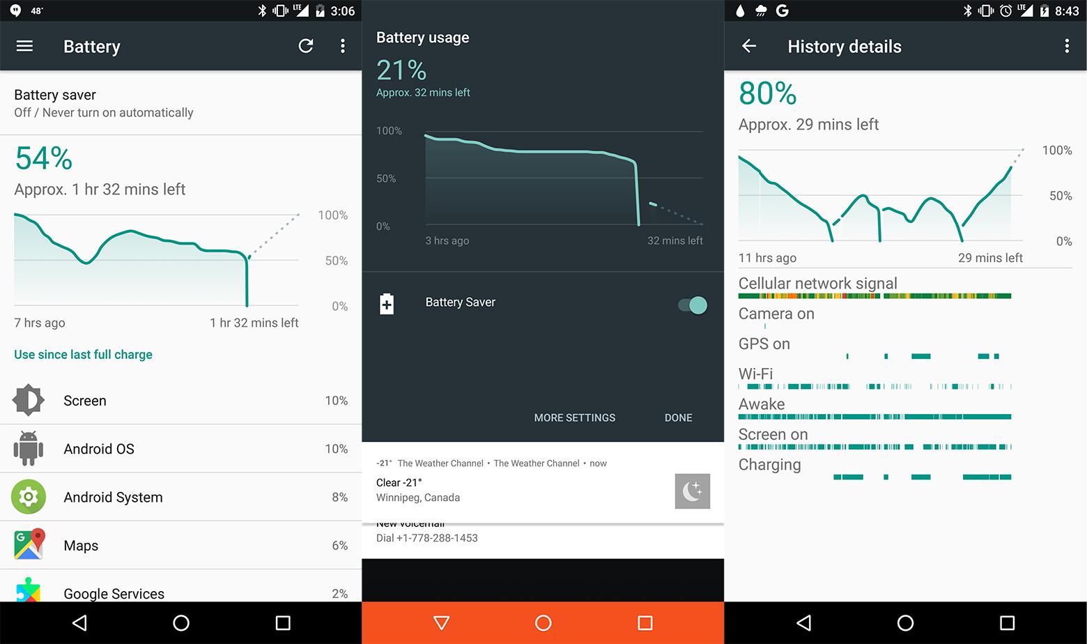 Некоторые смартфоны Google Pixel и Nexus 6P отключаются при индикации ≈30% заряда - 1