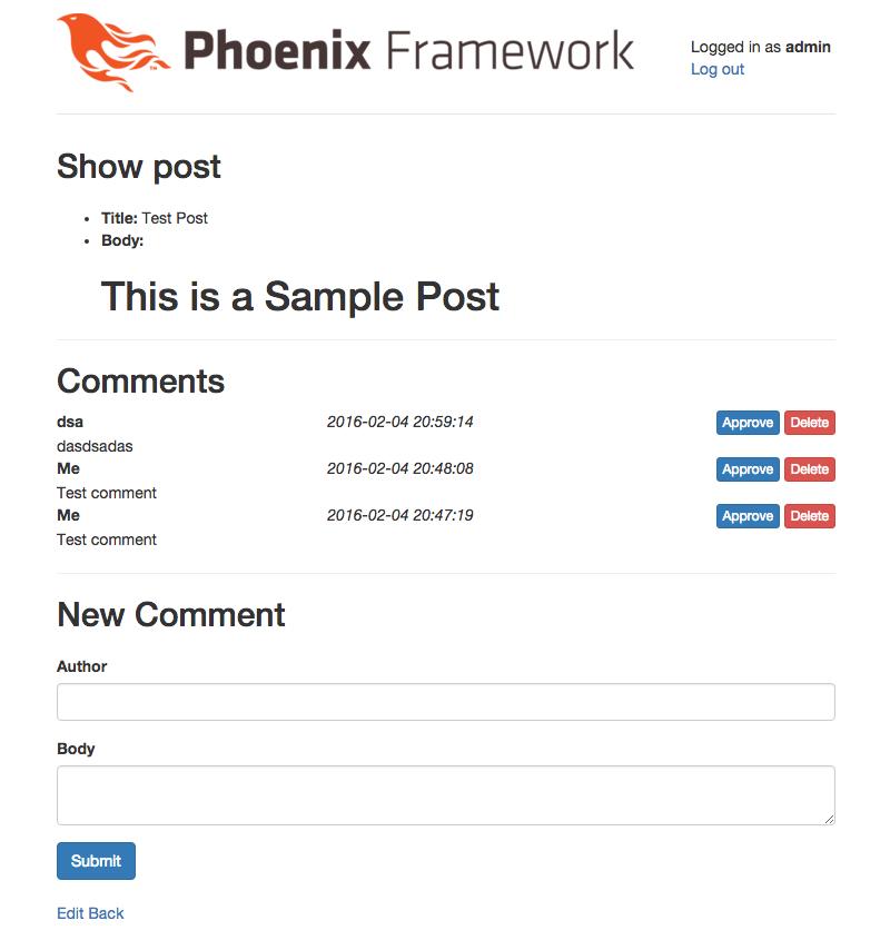 Создание движка для блога с помощью Phoenix и Elixir - Часть 7. Добавляем комментарии - Новогодний анонс в заключении - 2