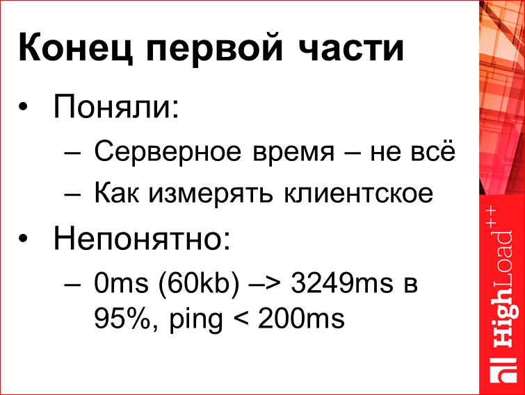 Скорость с доставкой до пользователя - 22