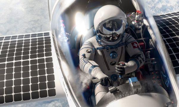 Стратосферный самолёт на солнечных батареях показан миру - 1