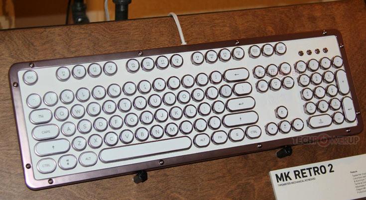 В клавиатуре AZiO Retro 2 используются механические переключатели Kailh Blue