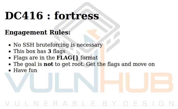 VulnHub: Разбираем самый короткий квест DC416 Fortress - 1