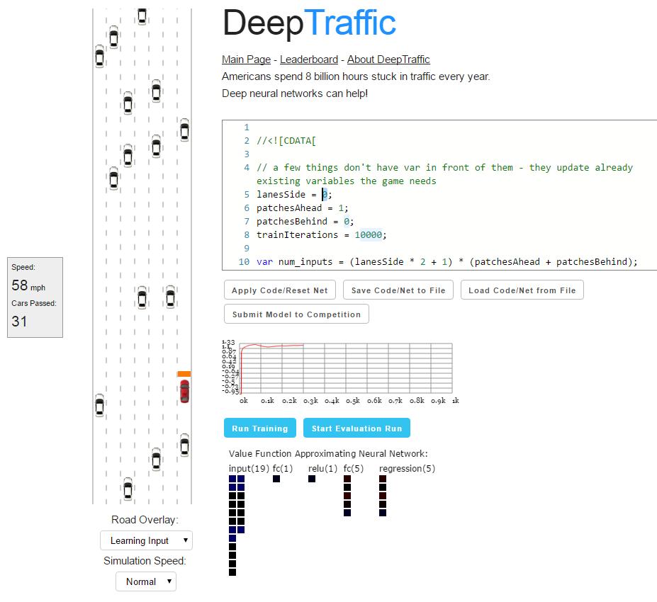 Домашнее задание от МТИ: пишем нейросеть для манёвров в дорожном трафике - 1