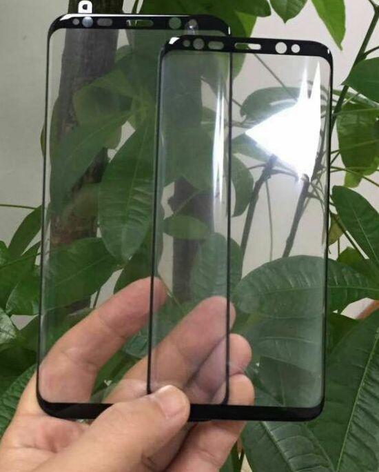 Поставщик опубликовал изображения стекла, которое покрывает экран смартфона Samsung Galaxy S8