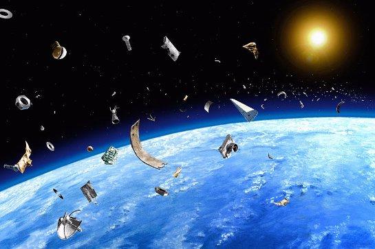Космический мусор попробуют убрать беспилотником