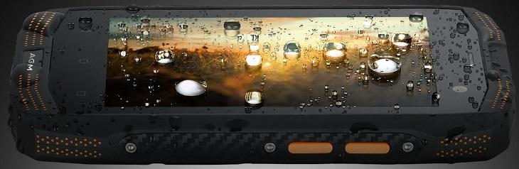 Смартфон AGM A2 получил ну очень заметные рамки по бокам экрана