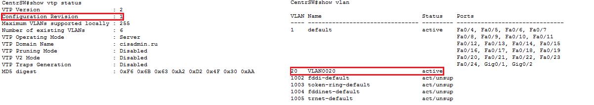 Основы компьютерных сетей. Тема №6. Понятие VLAN, Trunk и протоколы VTP и DTP - 99