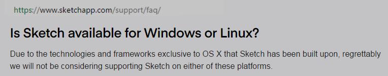 F.A.Q. Sketchapp о поддержке Windows