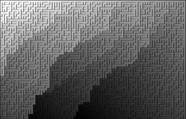 Классические алгоритмы генерации лабиринтов. Часть 2: погружение в случайность - 3