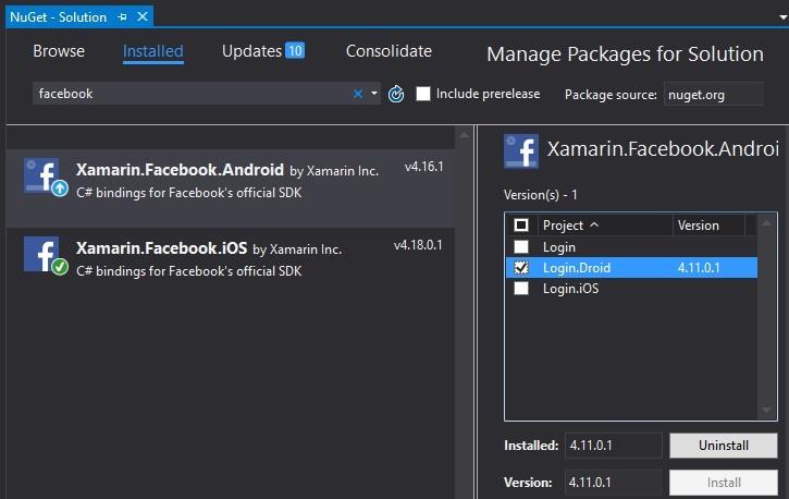 Подключаем Facebook SDK для Xamarin.Forms - 4