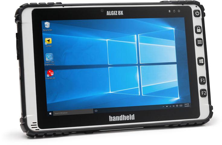 При габаритах 225 x 147 x 24 мм планшет Handheld Algiz 8X весит 990 г
