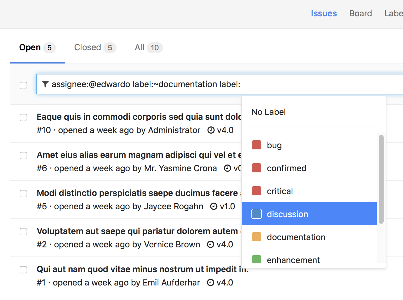 Improved issue search and filters in GitLab 8.16