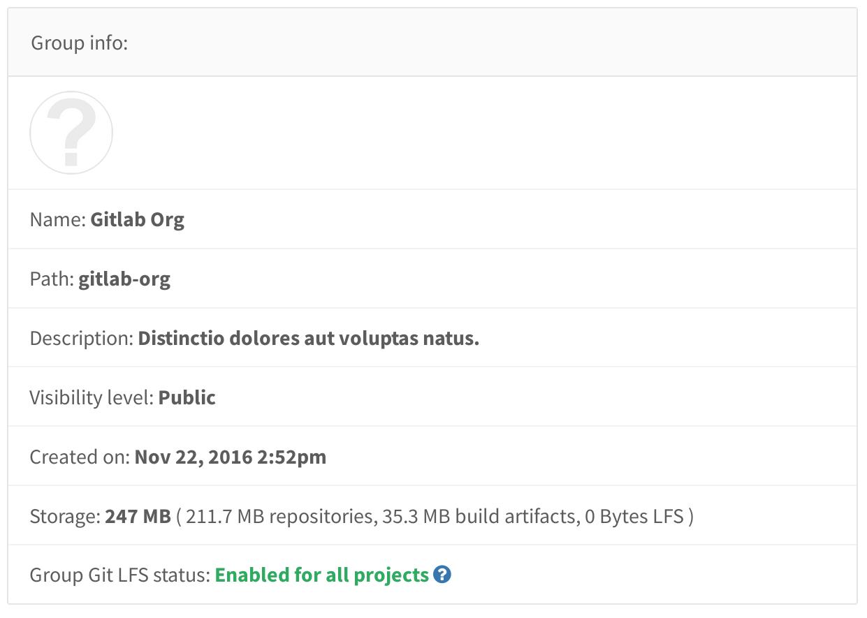 See how storage is being used in GitLab 8.16