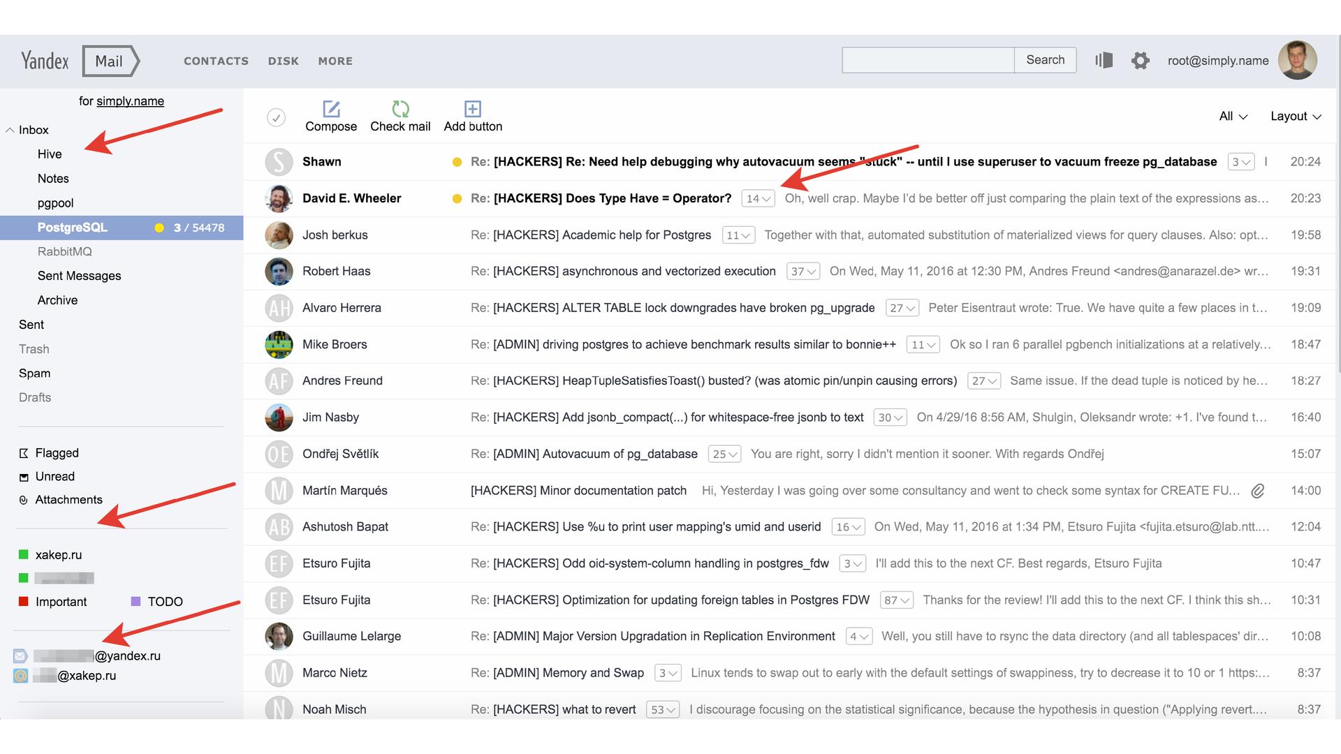 История успеха «Яндекс.Почты» с PostgreSQL - 2